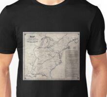 0199 Railroad Maps Map shewing the connection of the Baltimore and Ohio-Rail-Road with other rail roads executed or in progress throughout the United Unisex T-Shirt
