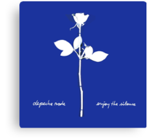 Depeche Mode : Enjoy The Silence - Paint Bleu Canvas Print