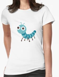 worm Womens Fitted T-Shirt