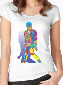 Wpap Bruno Portrait Women's Fitted Scoop T-Shirt