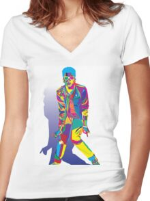 Wpap Bruno Portrait Women's Fitted V-Neck T-Shirt