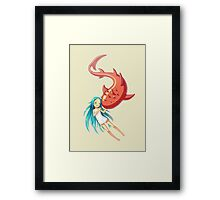 Red Whale Framed Print