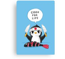 Penguin Chef Canvas Print