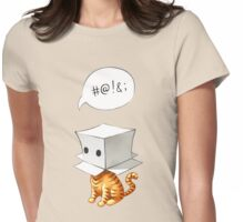 Cat in the Box 2 Womens Fitted T-Shirt