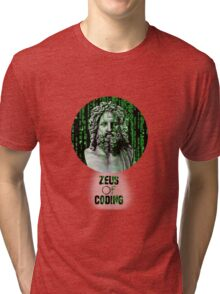 ZEUS OF CODING Tri-blend T-Shirt