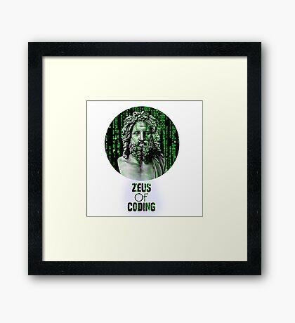 ZEUS OF CODING Framed Print