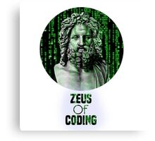 ZEUS OF CODING Canvas Print