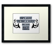Muscle Permit Framed Print