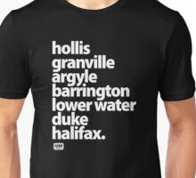 Halifax Nova Scotia - Downtown Unisex T-Shirt