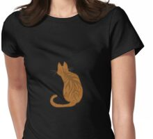 Ginger Forward Looking Cat Womens Fitted T-Shirt