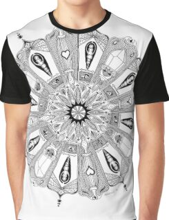 Circle of Eight Alchemical Crystalline Angels Graphic T-Shirt