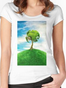 World Tree Women's Fitted Scoop T-Shirt