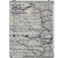 0266 Railroad Maps Map showing the location of the Galena Chicago Union Railroad with its branches connections in Illinois Wisconsin Iowa and iPad Case/Skin