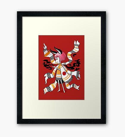 Daemon Girl Framed Print