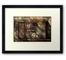 Train - A door with character Framed Print