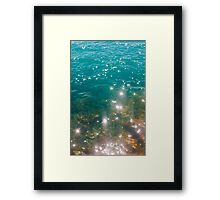 The color of the sea Framed Print