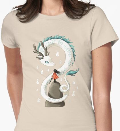 Dragon Spirit Womens Fitted T-Shirt