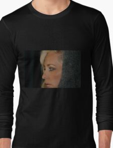 Blond Woman Long Sleeve T-Shirt