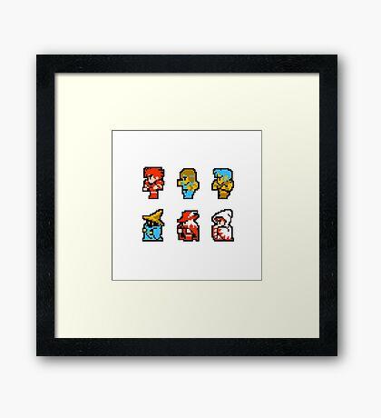 Final Fantasy: Team up (Redux) Framed Print