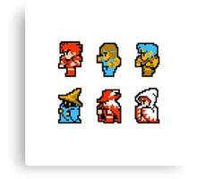 Final Fantasy: Team up (Redux) Canvas Print