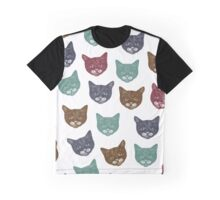 Kitten Colored Pattern Graphic T-Shirt