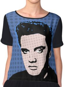 Rock God Elvis Chiffon Top