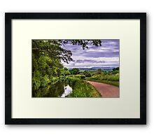The Canal at Brecon Framed Print