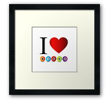 I love bingo Framed Print