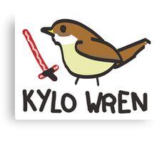Kylo Wren - star wars visual pun design Canvas Print