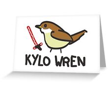 Kylo Wren - star wars visual pun design Greeting Card