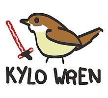 Kylo Wren - star wars visual pun design Photographic Print