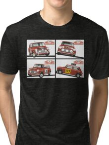 Monte Carlo Rally Mini Coopers Tri-blend T-Shirt