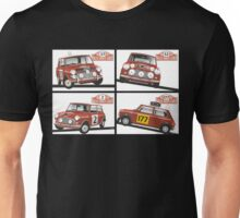Monte Carlo Rally Mini Coopers Unisex T-Shirt