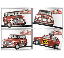 Monte Carlo Rally Mini Coopers Poster