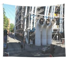 Centre Pompidou in Paris France, from a window opposite. Wall Tapestry