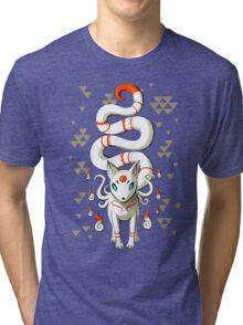 Long Tail Fox Tri-blend T-Shirt