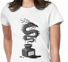 Ink Dragon Womens Fitted T-Shirt