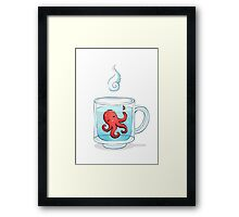 Octopus Tea Framed Print