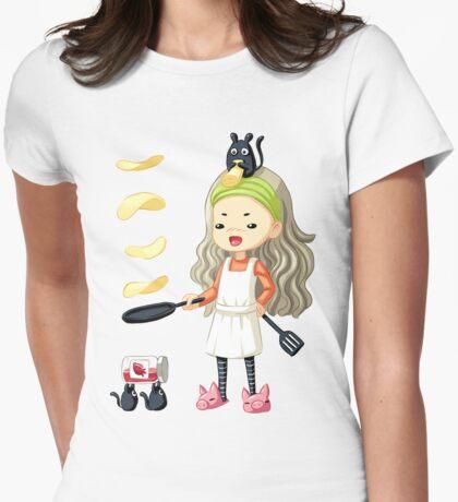 Pancake Master Womens Fitted T-Shirt