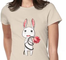 Bunny Flower Womens Fitted T-Shirt