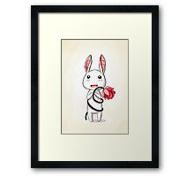 Bunny Flower Framed Print