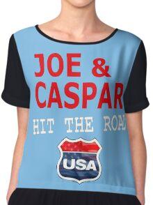 JOE AND CASPAR HIT THE ROAD USA Chiffon Top