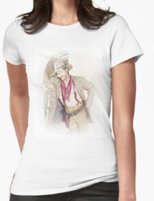 Vignette Ladies man Womens Fitted T-Shirt