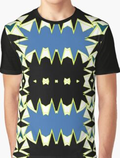 BLACK AND BLUE ABSTRACT PATTERN  Graphic T-Shirt