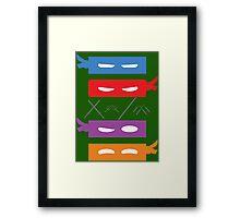 Teenage Mutant Ninja Turtles Mask's Framed Print