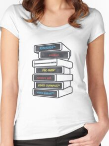 Game Cartridges 2 Women's Fitted Scoop T-Shirt