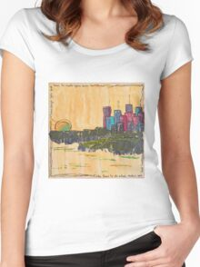 Cityscape by Day Women's Fitted Scoop T-Shirt