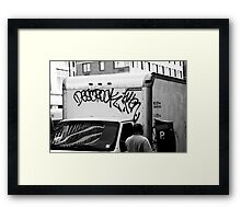 New York Graffiti Framed Print