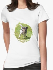 fast running jack russell terrier Womens Fitted T-Shirt