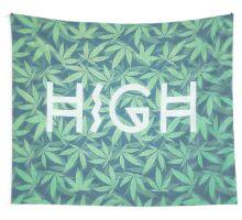HIGH TYPO! Cannabis / Hemp / 420 / Marijuana  - Pattern Wall Tapestry